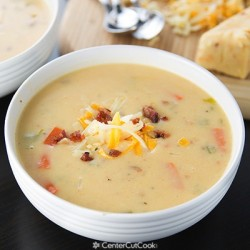 Spicy Wisconsin Cheese & Bacon Soup