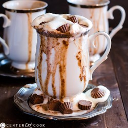 Slow Cooker Peanut Butter Hot Chocolate