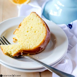 Iced Meyer Lemon Pound Cake