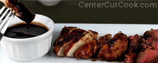 Balsamic bbq glazed chicken