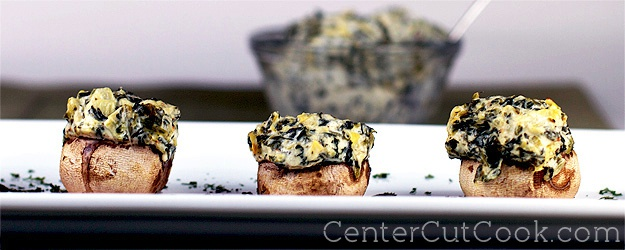 Artichoke and Spinach Stuffed Mushrooms