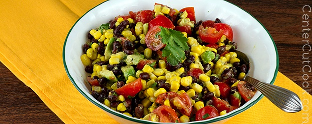 Corn, Black Bean, Avocado, and Tomato Salad Recipe