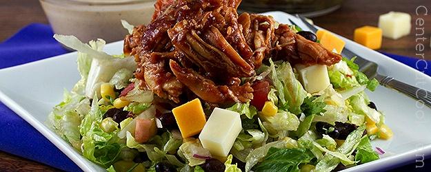 Southwestern bbq chicken salad