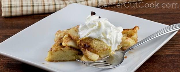 German Pancake Topped With Cinnamon And Sugar Recipe — Dishmaps