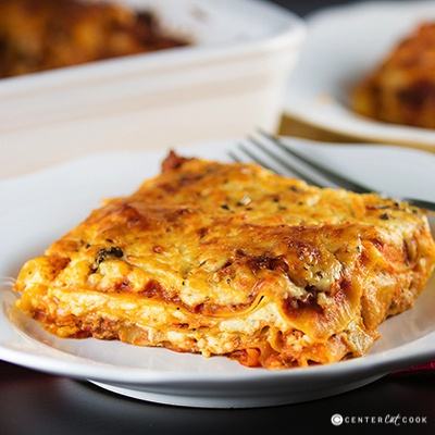 Traditional Sausage Lasagna With Cream Cheese Recipe ...