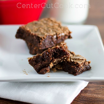 Triple Chocolate Chewy Brownies