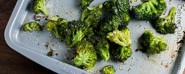 Roasted garlic parmesan broccoli