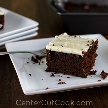 Simple Chocolate Cake with Buttercream Frosting Recipe
