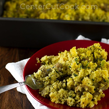 Corn Bread Stuffing with Sausage and Herbs Recipe