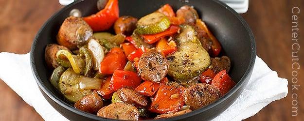 Italian Chicken Sausage Skillet