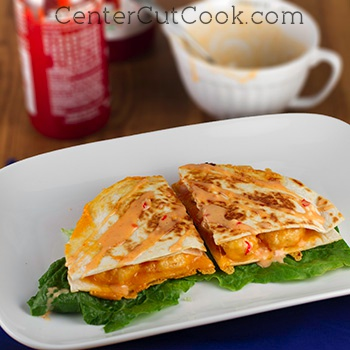 Bang bang shrimp quesadillas 2