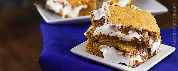 Peanut butter smores bars