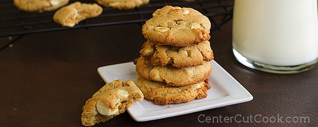 Peanut butter white chocolate chip cookies