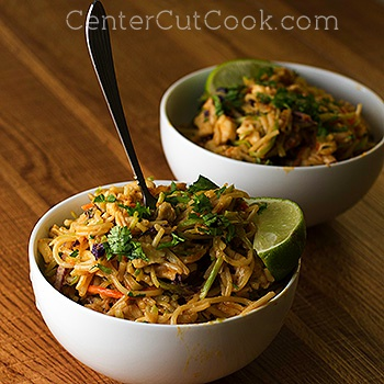 Chicken  Veggie Noodle Bowl with Peanut Sauce 2