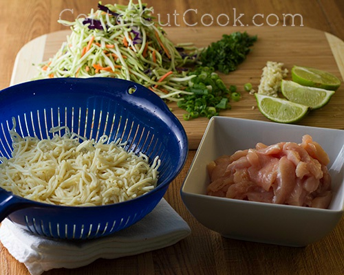 Chicken  Veggie Noodle Bowl with Peanut Sauce 4