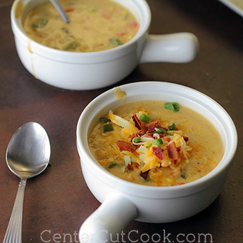 Cheesy corn chowder 2
