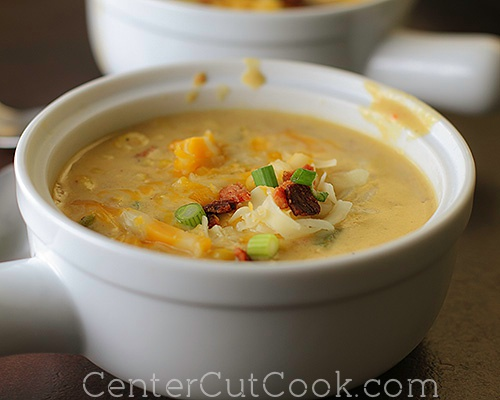 Cheesy corn chowder 4