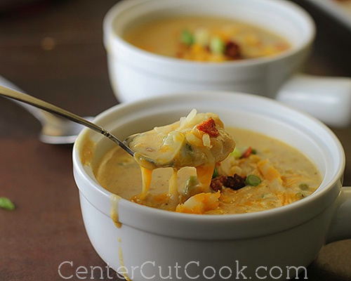 Cheesy corn chowder 5