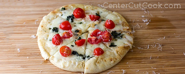 Caprese Flatbreads with Garlic Spread