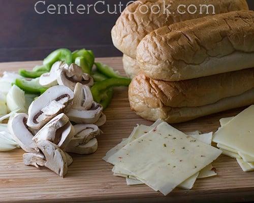 Philly cheesesteak sandwiches 4