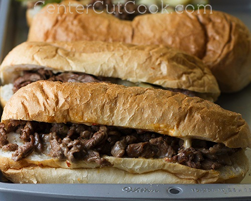 Philly cheesesteak sandwiches 6