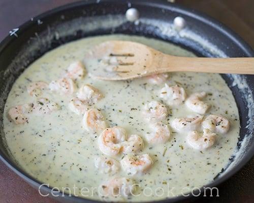 Shrimp scampi pasta 3