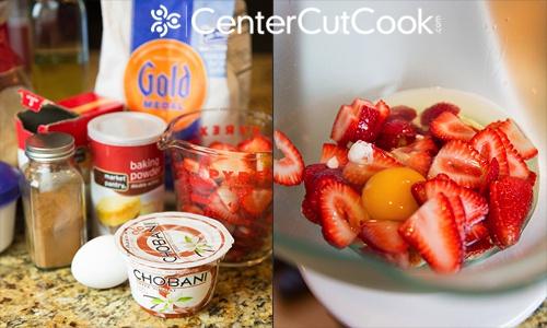 Strawberry yogurt muffins 3