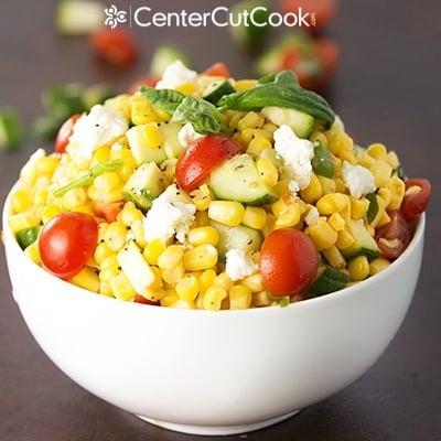 Fresh Corn, Zucchini And Tomato Salad Recipe — Dishmaps