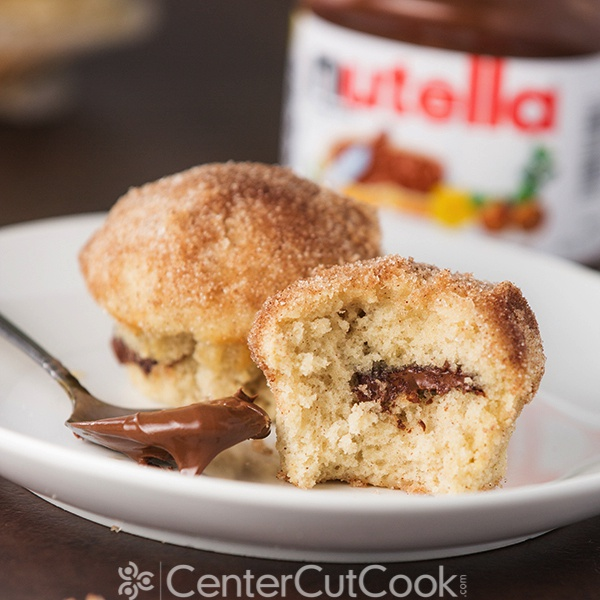 Nutella stuffed cinnamon sugar muffins 6