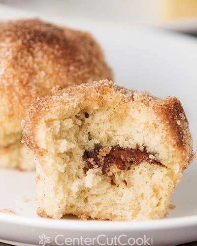 Nutella stuffed cinnamon sugar muffins 7