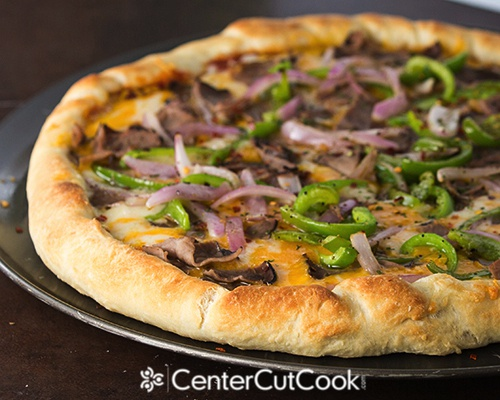 Philly cheesesteak pizza 5