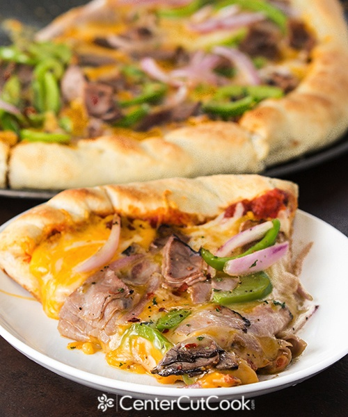 Philly cheesesteak pizza 6