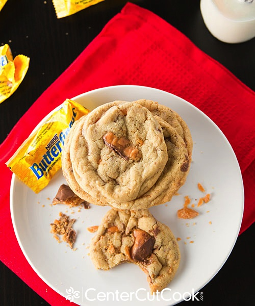 Butterfinger, Milky Way Chocolate Chunk Cookies Recipe — Dishmaps