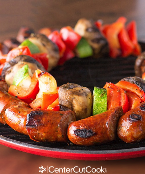 Chicken sausage kabobs 8