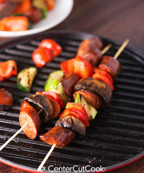 Chicken sausage kabobs 9