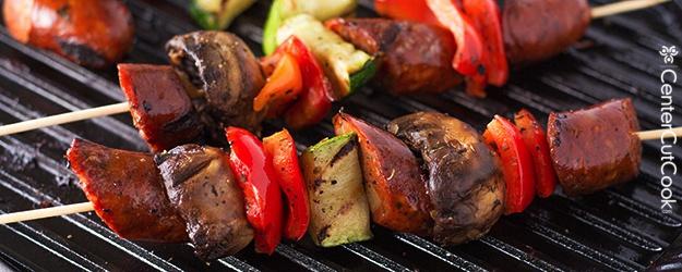 Grilled Chicken Sausage Kabobs Recipe