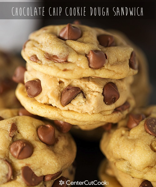 Chocolate chip cookie dough sandwiches 3 2