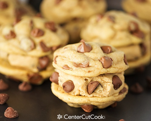 Chocolate chip cookie dough sandwiches 4