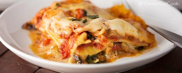 Hearty Cheesy Vegetable Lasagna!