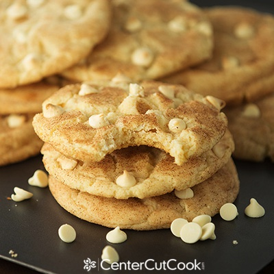 White chocolate chip snickerdoodle cookies 2