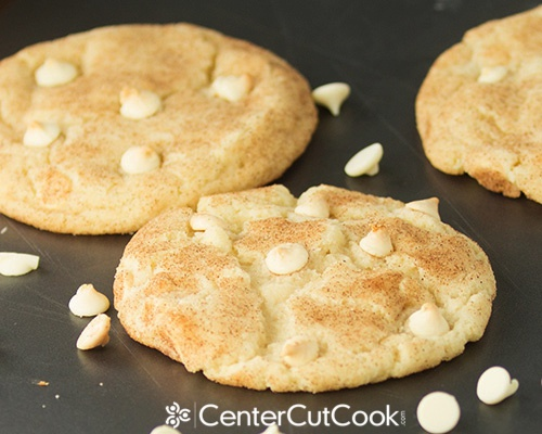 White chocolate chip snickerdoodle cookies 5
