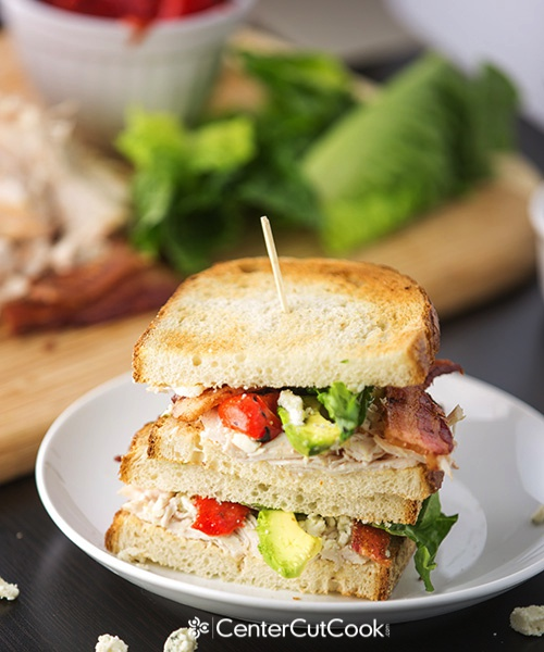 Chicken bacon and blue cheese sandwich 4