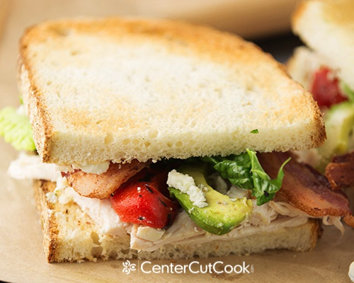 Chicken bacon and blue cheese sandwich 6