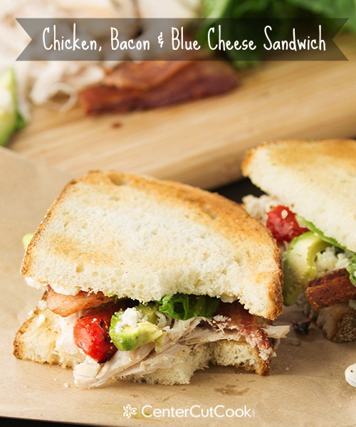 Chicken bacon and blue cheese sandwich 9