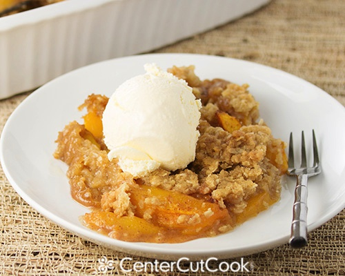 Peach Crisp With Canned Peaches And Cake Mix