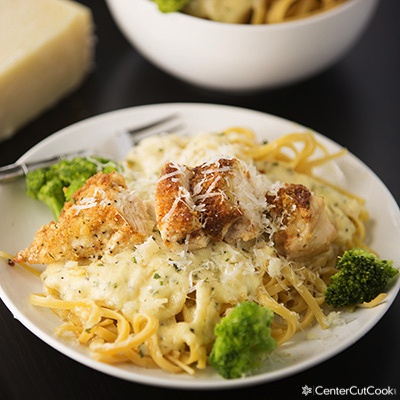 Parmesan crusted chicken alfredo 2