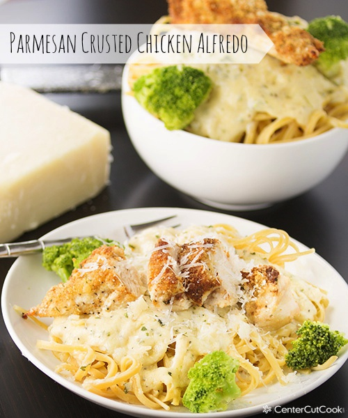 Parmesan crusted chicken alfredo 5