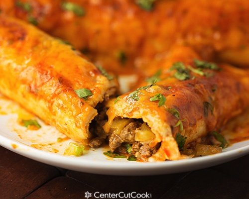 Spicy cheese and beef enchiladas 6