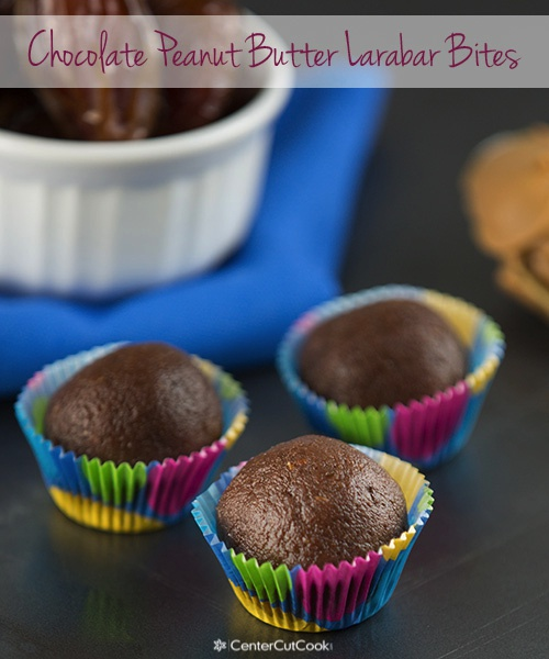 Chocolate peanut butter larabar bites 6
