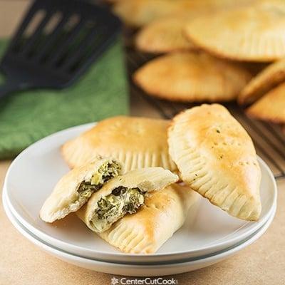 Creamy artichoke spinach pockets 2